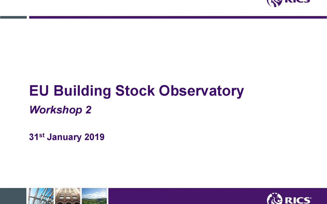 RICS organizes the 2nd Building Stock Observatory workshop, BSO